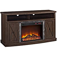 Ameriwood Home Barrow Creek Electric Fireplace TV Stand for TVs up to 60, Espre