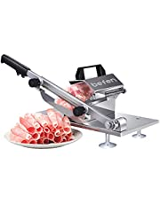 Manual Frozen Meat Slicer, Stainless Steel Meat Cutter Beef Mutton Roll Meat Cheese Food Slicer Vegetable Sheet Slicing Machine for Home Cooking Kit of Hot Pot Shabu Shabu (Frozen Meat Slicer)