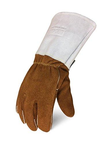 Elkskin Leather - IRONCLAD Welding Leather Gloves MIG TIG STICK GRAIN, Palm Reinforcements, Fleece or Cotton Lining, Foam Insulation, Multi Options Cow, Elkskin, Buffalo, Sized S/M/L/XL, Machine Washable, Great Fit