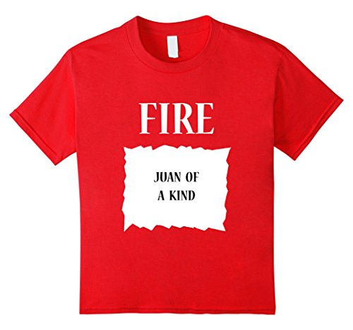 [Kids Fire Hot Sauce Packet Group Halloween Costume T-Shirt 10 Red] (Easy Costume Ideas Group)