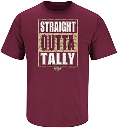 Straight Outta Tally Garnet T Shirt Smack Apparel Florida State Football Fans Sm-5X