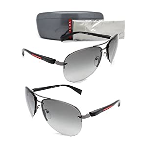 NEW PRADA SUNGLASSES PS 56MS 5AV3M1 Gunmetal Frame / Grey Gradient Lens 62mm