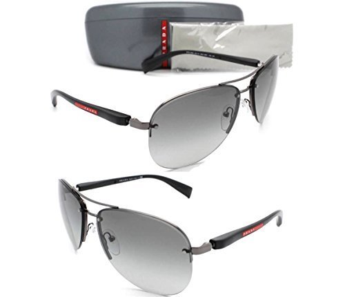 NEW PRADA SUNGLASSES PS 56MS 5AV3M1 Gunmetal Frame / Grey Gradient Lens - Men Sunglasses Prada Aviator