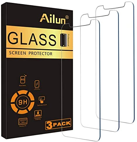 Ailun Screen Protector Compatible for iPhone 11 Pro Max/iPhone Xs Max 3 Pack 6.5 Inch 2019/2018 Release Tempered Glass