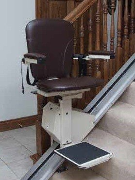 Elegant Stair Lift in Walnut