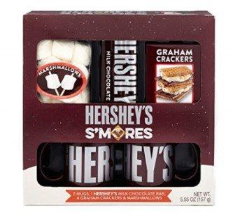 Hersheys SMores Holiday Mug Gift Set with Chocolate, Graham Crackers and Marshmallows, 5.55 oz