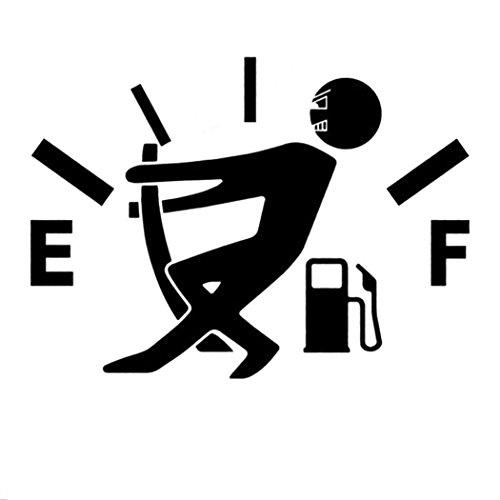 GuGio Funny Gas Fuel Tank Cover Vinyl Car Sticker for Car Truck SUV Window Bumper - Funny car Stickers Black (Monitor Tank Fuel)