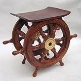 18 in. Teak Ship Wheel Table