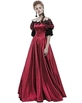 Robe de mariee gothique rouge