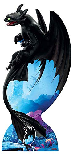 Star Cutouts SC1300 Toothless Night Fury Soars Official Universal DreamWorks How to Train Your Dragon Party and Collectors Item Height 194cm Width 92cm, Multicolour -