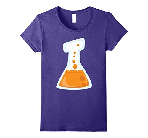 Womens Cute Funny & Easy Last Minute Halloween Costume T-Shirt Large Purple