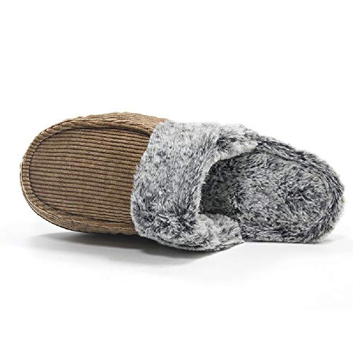 Panno Basso Warm Pantofole Cotone In Morbido Peluche Indoor outdoor Invernali Tacco Uomo Home Antiscivolo Piatto Brown Scarpe vxxTC7