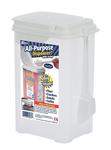 r Storage Container [Attachable Scoop] BPA Free Plastic Made in U.S.A. ()