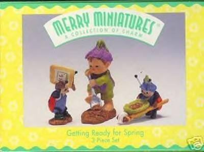 Hallmark Merry Miniatures Getting Ready for Spring
