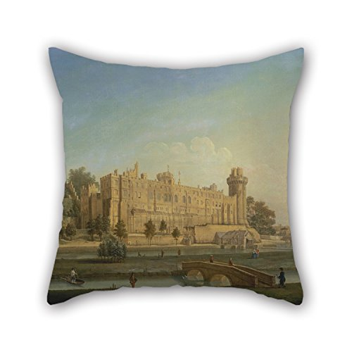 Pillow Cases Of Oil Painting Francis Harding - Warwick Castle 20 X 20 Inches / 50 By 50 Cm Best Fit For Shop Deck Chair Boy Friend Pub Lounge Bedroom Two Sides (Flower Shop Warwick)