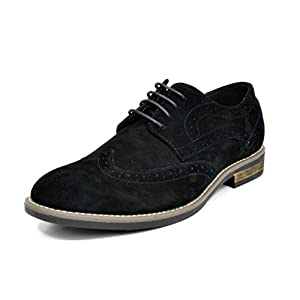 BRUNO MARC NEW YORK Bruno Marc Men's Urban Suede Leather Lace up Oxfords Shoes