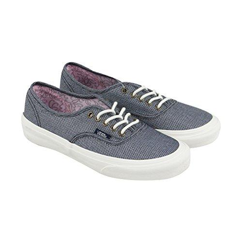 Vans Autentici Sneakers Slim Uomo In Tela Blu Con Lacci