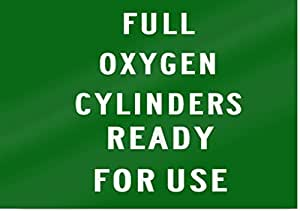 "Full cilindros de oxígeno Sign 14""de ancho x 10cm de alto"