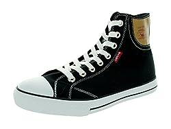 Levis Men's Hamilton Buck Fashion Sneaker, Navy/Brown, 8.5 M US
