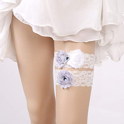 MATCHANT Wedding Decorations Lace Embroidered Wedding Set Bridal Garter (Color : White)