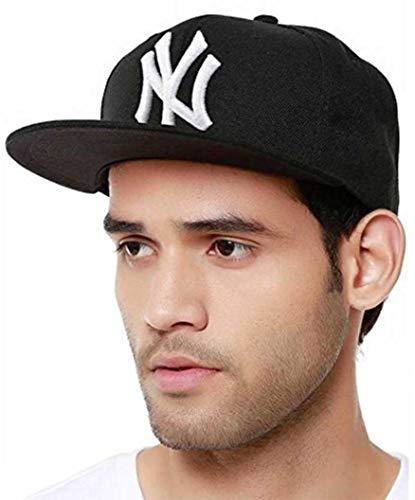 FRIENDSKART Snapback Black White NY Hip Hop Cap for Men, Women, Boys and Girls