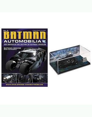 DC BATMAN AUTOMOBILIA FIGURINE COLLECTION MAGAZINE #3 BATMOBILE TUMBLER