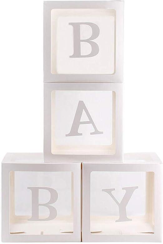 HoaJeo 4Pcs / Cuadrado Transparente Globo Cajas Baby Shower ...
