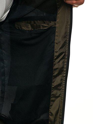 Di Quotidiano Mezza Giacca Uomo Stile Cappuccio Stagione Nero Moda A verde Da Bolf 4d4 Zip Chiusa – Con hs10 Mimetica wv5qqndO