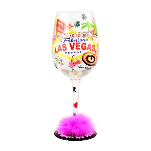 Top Shelf Las Vegas What Happens Here, Stays Here Wine Glass