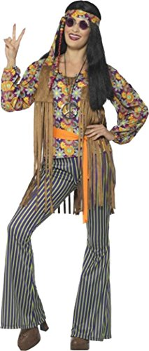 60s Singer Costume, Female, With Top, Waistcoat Large (uk Dress 16-18) - 60s Singer Adult Costumes