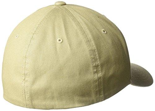 Flexfit Gorra Yupoong sarga ajuste Beige de Medium algodón prefecto de Small p5d5rq