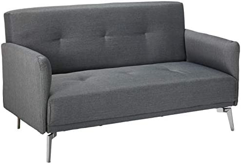 Container Furniture Direct Emma Collection Modern Fabric Upholstered 2 Person Living Room Loveseat