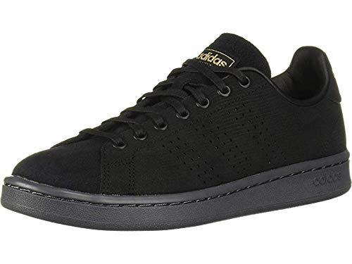 adidas Women's Cloudfoam Advantage Cl Sneaker, Black/Matte Gold/Grey, 7 M US (Stan Smith Sleek)