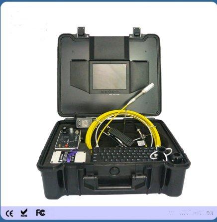 Kohstar Built-in 512Hz transmitter 50m fibreglass push rod video pipe inspection camera with 12pcs LEDs ()