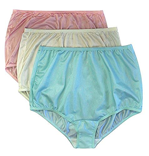 (Vanity Fair Classic Ravissant Tailored Brief - Pack of 3-15712 (10, Soft Pink/Candleglow/Mint Dot))