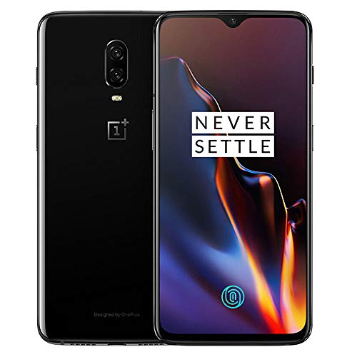 OnePlus 6T A6013 128GB Storage + 8GB Memory Factory Unlocked 6.41 inch AMOLED Display Android 9 - Mirror Black US Version