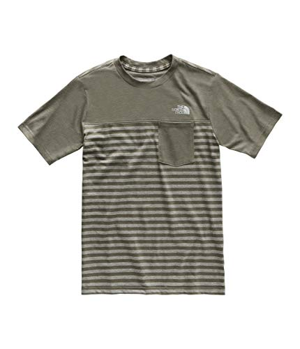 The North Face Kids Boy's Short Sleeve Pocket Tee (Little Kids/Big Kids) New Taupe Green Small