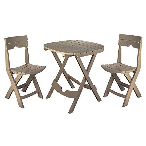 Adams Manufacturing 8590-96-3731 Quik Fold Café Set, Portobello