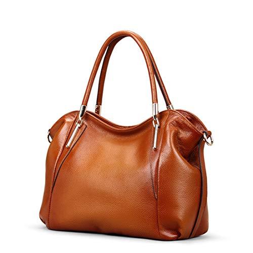 Femme En Main color Sacs Red tout Bandoulière Fourre brown Pour Houyazhan Cuir Sac brown Red À Vintage qT440f