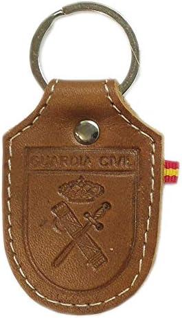 Llavero Piel Guardia Civil, Grabado a láser. Medidas: 8,5cm: Amazon.es: Equipaje