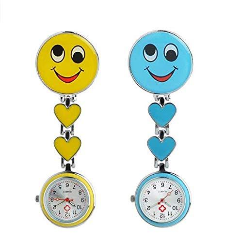 tingbd Enfermera Reloj Pulso Reloj Nurse Watch Bata Reloj Reloj de Bolsillo Trend Relojes Top Calidad Hermana Reloj Smiley con Clip Enfermera Reloj Bata ...