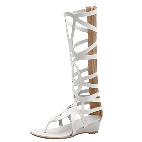 Women's Sandals Beige Taoffen Zipper Gladiator FxUqHpCw