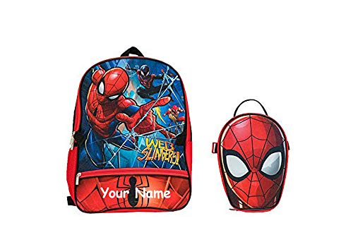 Personalized Marvel Spider-Man Personalized Spiderman Backpack with Lunchbox