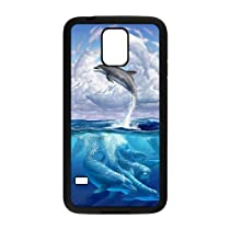 Diy Cutstomize Cute Dolphin hard Back Cover Phone Case for samsung galaxy s5