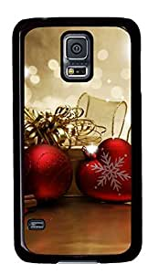 Diy Fashion Case for Samsung Galaxy S5,Black Plastic Case Shell for Samsung Galaxy S5 i9600 with Jingling Bell
