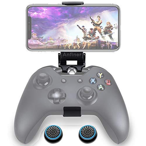 Anfiner - Soporte para teléfono celular, prensa para celular, plegable, compatible con Microsoft Xbox One/Xbox One S/Xbox...