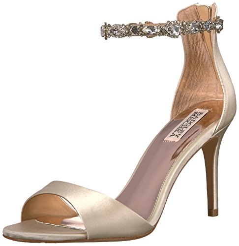 Badgley Mischka Women's Sindy Heeled Sandal, Ivory, 7.5 M US