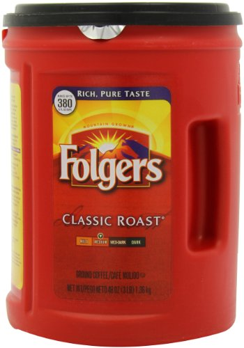Folgers Coffee, Classic Roast, 48 Ounce (Pack of 12) by 3M