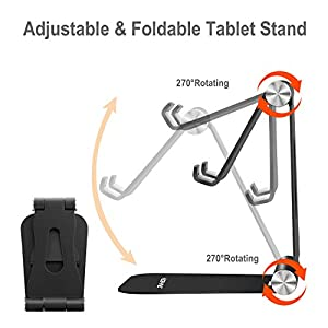 YOSHINE Cell Phone Stand Cell Phone Holder Adjustable iPhone Stand Foldable Mobile Phone Stand for Desk Tablet Stand…