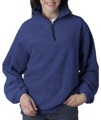 UltraClub Adult Iceberg Fleece 1/4-Zip Pullover. 8480 - X-Large - Royal